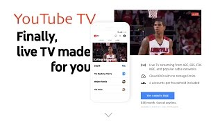 YouTube TV launches today in five US cities. At $35/month, the service offers around 40 channels including ESPN and all four major networks (CBS, ABC, Fox, and NBC). Moreover, the service offers unlimited DVR support, 3 simultaneous streams per membership, and, according to initial reviews, strong performance. Is YouTube TV better than DirecTV Now? Maybe. On its face, YouTube TV has all the makings of a strong streaming television service. YouTube TV Sign-up: https://tv.youtube.com/welcome/For more information, follow me on twitter at http://twitter.com/therevivedoneCheck out my blog at http://michaelsherlock.com