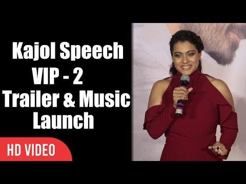 Kajol Speech At Velai Illa Pattadhaari 2 Trailer And Music Launch | VIP 2 Lalkar (видео)