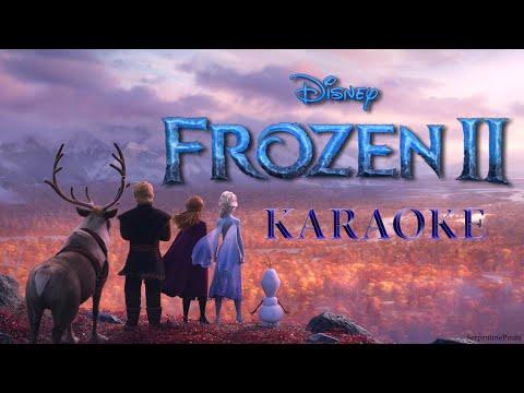 FROZEN 2 - Into the Unknown (KARAOKE clip) - Instrumental with lyrics on screen