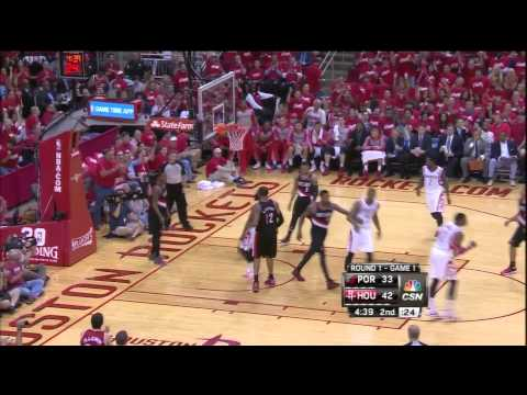 James Harden driving lay in vs Blazers