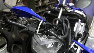 10. 2009 Yamaha Nytro XTX Homemade Steering Relocate