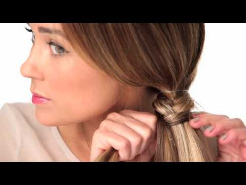 tutorials - Kristin and Lauren show you how to do a fishtail braid in a few easy steps.