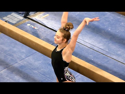 Balance Beam in Front of the Judges! | Whitney Bjerken Gymnastics
