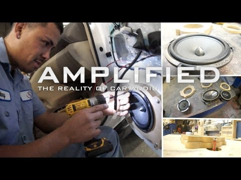How to Make MDF Speaker Adaptor Rings, Focal Speaker install Lexus RX330 – Amplified #122