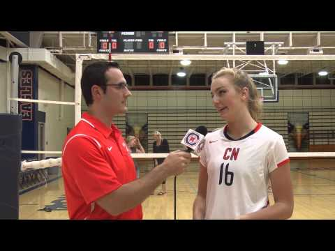 Carson-Newman Volleyball: Allie Foster Post-L-R 9-11-15
