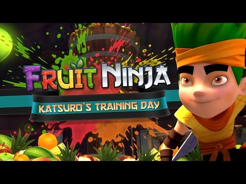 Training - Deep in training, two of Sensei's promising Fruit Ninja students take on his epic new obstacle course! Mari proves she is up to scratch displaying awesome power and technique, but Katsuro...