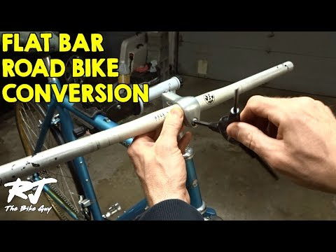 Road Bike Drop Bars To Flat Bar Conversion