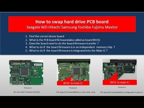 Seagate WD Hitachi Samsung Maxtor Toshiba Fujishu hard drive PCB board swap guide