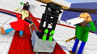 Monster School : BALDI'S BASICS & Epic BOTTLE FLIP CHALLENGE - Minecraft Animation