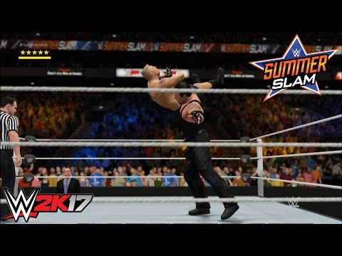 WWE 2K17 - The Undertaker Vs. Brock Lesnar: Summerslam (2015) | PS4/Xbox One Gameplay