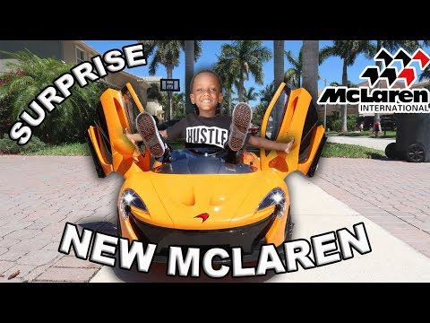 SURPRISED OUR SON WITH A NEW MCLAREN!!!