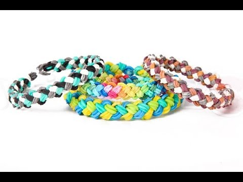 Mini Double Braid Bracelet Tutorial – ADVANCED Rainbow Loom Instructions