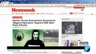 Paris Attacks: Anonymous hackers declare all-out war on Islamic state organization