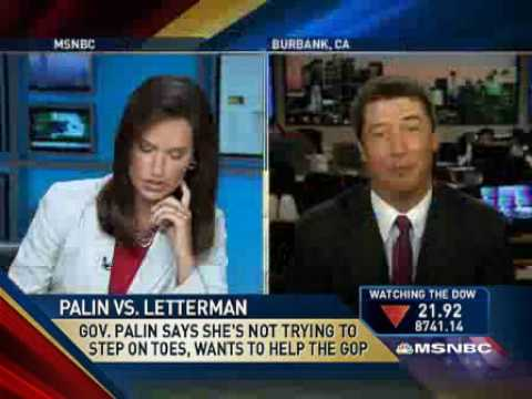 Argument - A news reporter on American MSNBC TV gets into an argument about Sarah Palin and then cuts the mic on her guest. What you've had to say about Reporter Argues...
