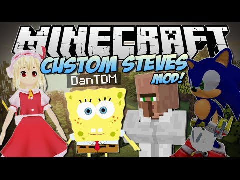 Minecraft   CUSTOM STEVES MOD! (Become ANY 3D Game Character!)   Mod Showcase