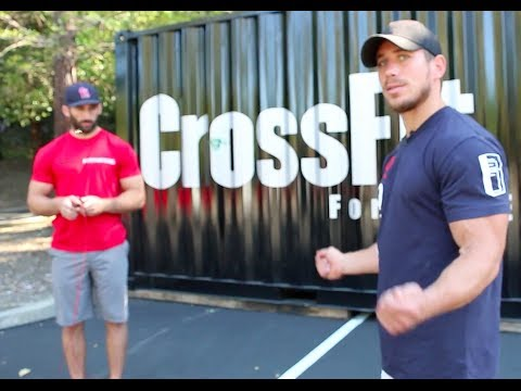 under - CrossFit -- (http://www.crossfit.com) Dan Bailey (8th at the 2013 CrossFit Games) instructs athlete Cary Hair on good positioning for the double-under. The C...