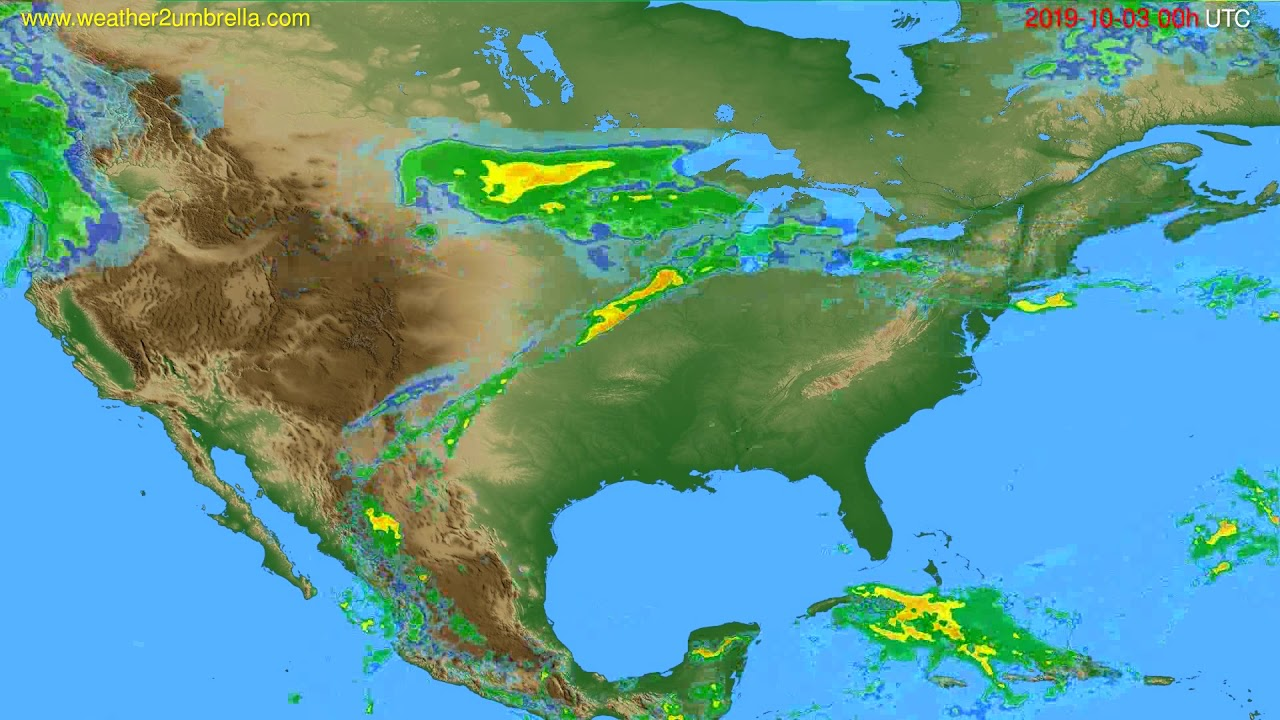 Radar forecast USA & Canada // modelrun: 12h UTC 2019-10-02
