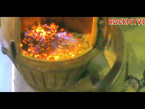 POT BELLY STOVE 100lbs COAL CANNON HEATER (видео)