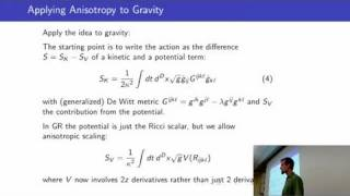 Gauge Symmetry And Dynamics In Anisotropic Gravity
