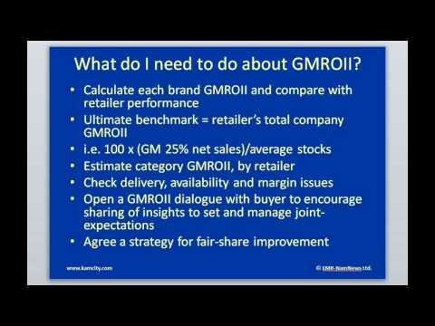 gmroi calculation In part 1 of this series, we talked about the gap analysis, calculating your optimum inventory level (oil), memo stock and your action plan to start part 2 of this series, we will next explain gmroi and how to calculate your oil for each product category now that you understand how much inventory you.