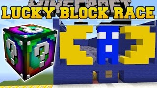 Minecraft: PACMAN'S MAZE LUCKY BLOCK RACE - Lucky Block Mod - Modded Mini-Game