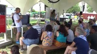 Teaching basic Basque vocabulary at the National Mall in Washington DC for the 2016 Smithsonian Folklife Festival dedicated to the Basques. Euskara ...