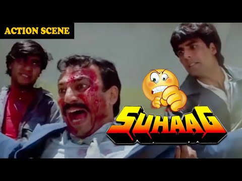 Video Akshay Kumar & Ajay Devgan Take Revenge From Rai Bahadur || Fight Scene From Movie Suhaag download in MP3, 3GP, MP4, WEBM, AVI, FLV January 2017