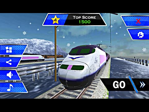Fast Train Drive 3D - Level 1-4 (Android Game)