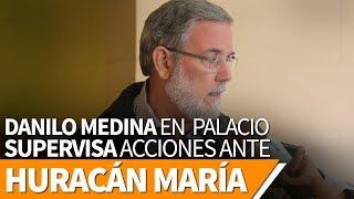 Danilo Medina pendiente en todo momento en Palacio Nacional del paso del huracán María
