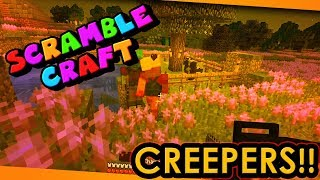THERE'S CREEPERS EVERY WHERE!? - Scramble Craft (Minecraft)