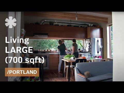 small home - When Matt Kirkpatrick and Katherine Bovee bought a half-sized lot in Portland, Oregon, instead of filling the reduced area with their home, they designed the...