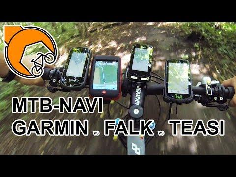 MTB-Navi: Garmin Oregon 600, Edge 1000, Falk Ibex 32 oder Teasi One