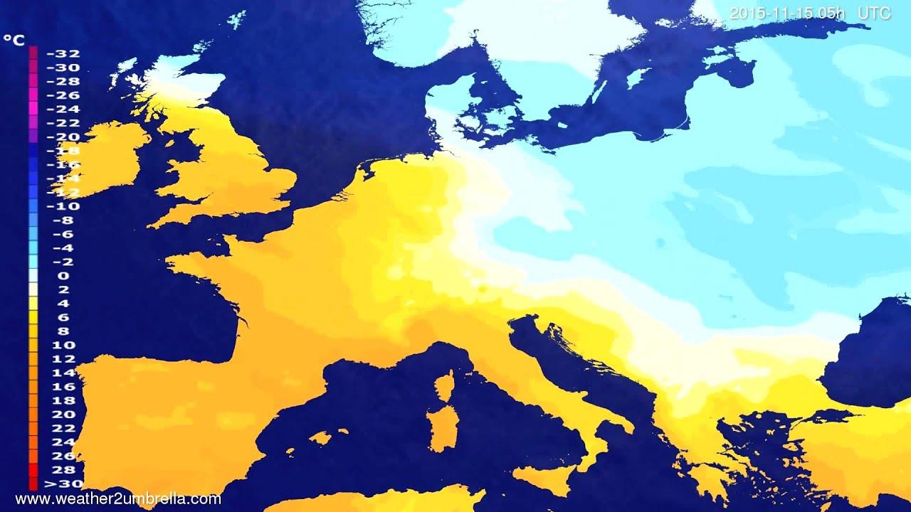 Temperature forecast Europe 2015-11-12