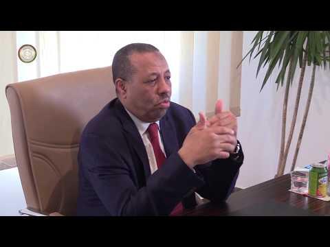 رئيس الحكومة الليبية المؤقتة عبدالله الثني يدشن مقر الهيئة العامة للمواصلات والنقل في شحات