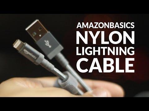 AmazonBasics Nylon Braided MFi Certified Apple Lightning Cable Unboxing