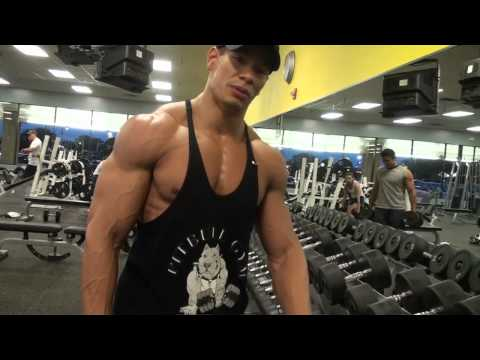 shoulder work out - Charles Fuller walks us through one of his shoulder and trap workouts. This workout was approx. 2 weeks before a competition. Charles still decides to lift h...