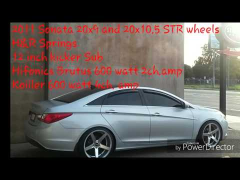 2011 sonata 20inch STR wheels lowered