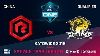 Rock Young vs Eclipse, ESL One Katowice CN, game 2 [Autodesctruction]