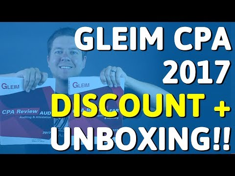 UNBOXING: Gleim CPA 2017 (UPDATED FOR NEW EXAM) + Discount & Free Trial | CPA Guide TV, Ep. 12 (видео)