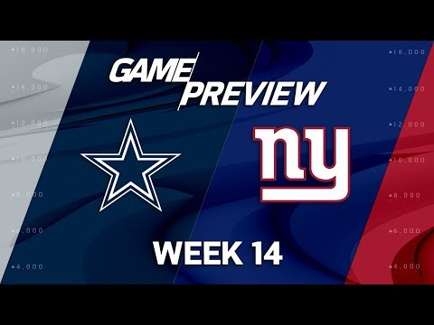 Dallas Cowboys vs. New York Giants | NFL Week 14 Game Preview | NFL Playbook