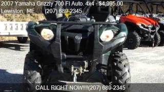 9. 2007 Yamaha Grizzly 700 FI Auto. 4x4  for sale in Lewiston,