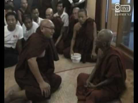 Shwenyawa Sayadaw reached to stay in the temporary shelter outside Yangon