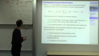 Variational Methods For Computer Vision - Lecture 10 (Prof. Daniel Cremers)