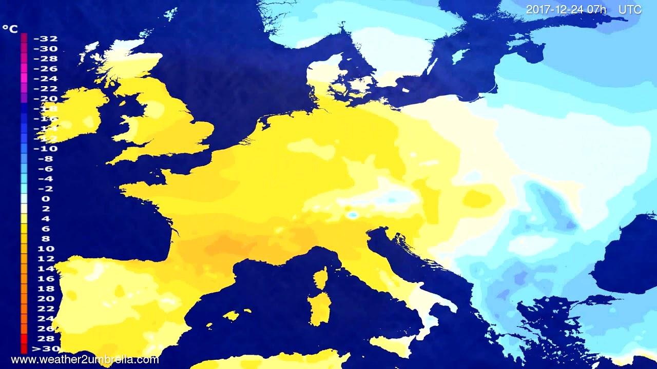 Temperature forecast Europe 2017-12-20
