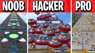 This NOOB vs PRO vs HACKER Deathrun is IMPOSSIBLE.. *RAGE* (Fortnite Creative)