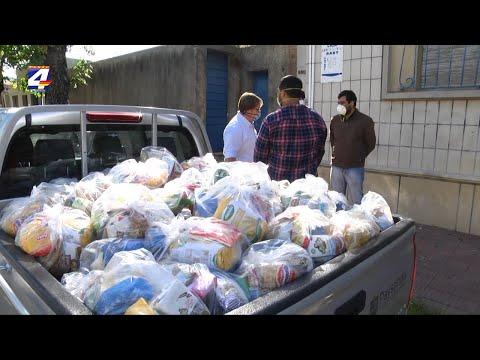 Entregaron primeras 120 canastas donadas por Nicolás Lodeiro a la Liga Sanducera de Fútbol Infantil