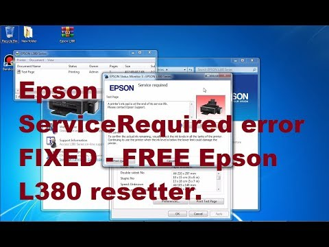 epson l210 service required software free download