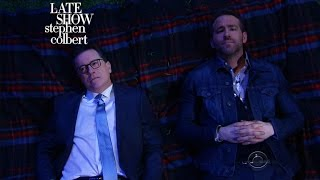 Watch Stephen Colbert and Ryan Reynolds Make Fun of Green Lantern and Ask Some Big Questions Under the Stars