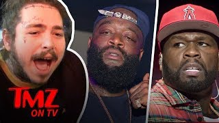 Video 50 Cent Takes A Shot At Rick Ross While He's Hospitalized! | TMZ TV MP3, 3GP, MP4, WEBM, AVI, FLV Maret 2018