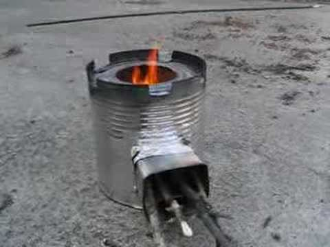 coffee can rocket stove #2